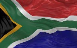 De vlag van Zuid-Afrika die in de 3d wind golven geeft terug Stock Fotografie