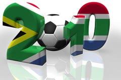 De Vlag van Zuid-Afrika van de Kop van de wereld 2010 Stock Foto's