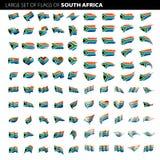 De vlag van Zuid-Afrika, vectorillustratie Stock Fotografie