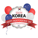 De vlag van Zuid-Korea in de correcte Grootte, het aandeel en de kleur De nationale vlag van Zuid-Korea stock illustratie