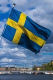De Vlag van Zweden Stock Foto's