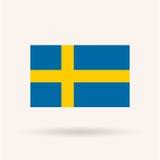 De Vlag van Zweden Stock Foto