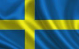 De Vlag van Zweden Een reeks `-Vlaggen van de wereld ` Het land - de vlag van Zweden Royalty-vrije Stock Fotografie