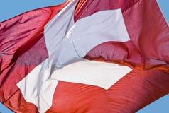 De vlag van Zwitserland Stock Foto's
