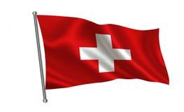 De Vlag van Zwitserland Een reeks `-Vlaggen van de wereld ` Het land - de vlag van Zwitserland Royalty-vrije Stock Foto