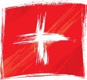 De vlag van Zwitserland van Grunge Stock Foto
