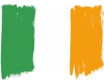 De Vlag VectordieHand van Ierland met Rond gemaakte Borstel wordt geschilderd Royalty-vrije Stock Foto's