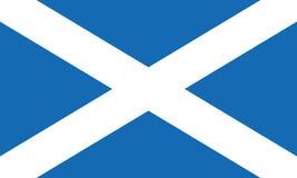 De vlag vectoreps10 van Schotland Schotse vlag Vlag van Schotland Heilige Andrew vector illustratie