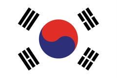 De vlag vectoreps10 van Zuid-Korea Vlag van Zuid-Korea De Vlag van Zuid-Korea met Officiële Koreaanse Nationale Kleuren wordt gem stock illustratie