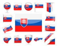 De Vlag Vectorreeks van Slowakije Royalty-vrije Stock Foto's