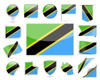 De Vlag Vectorreeks van Tanzania Royalty-vrije Stock Fotografie
