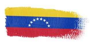 De Vlag Venezuela van de penseelstreek stock illustratie