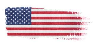 De Vlag Verenigde Staten van de penseelstreek Royalty-vrije Stock Foto
