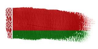 De Vlag Wit-Rusland van de penseelstreek Stock Foto's