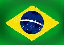 De vlagachtergrond van Brazilië stock foto's