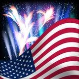 De vlagachtergrond van de V.S. Royalty-vrije Stock Foto's