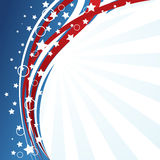 De vlagachtergrond van de V.S. Stock Afbeelding