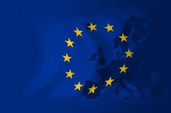 De vlagachtergrond van Europa vector illustratie