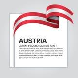 De vlagachtergrond van Oostenrijk royalty-vrije illustratie