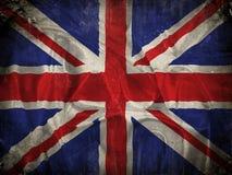De vlagachtergrond van Union Jack van Grunge Royalty-vrije Stock Afbeelding