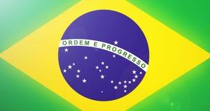De Vlaganimatie van Brazilië stock footage