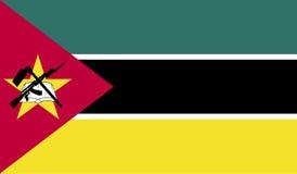 De vlagbeeld van Mozambique Stock Foto's