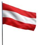 De Vlagbeeld van Oostenrijk stock illustratie