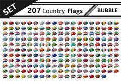 de vlagbel van 207 land Stock Fotografie