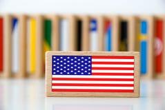 De domino van de vlag Stock Foto