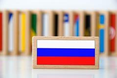 De domino van de vlag Royalty-vrije Stock Fotografie
