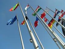 De vlaggen. Stock Afbeeldingen