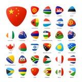 De vlaggen bij shenzhen conference&conventioncentrum Royalty-vrije Stock Fotografie
