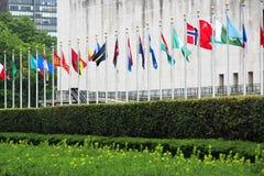 De vlaggen bij shenzhen conference&conventioncentrum Royalty-vrije Stock Foto's