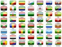 De vlaggen van Afrikanen van landen Stock Afbeeldingen