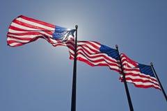 De Vlaggen van Amerika Stock Afbeelding