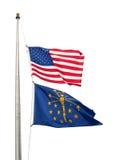 De vlaggen van Amerika Stock Foto's