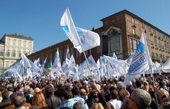 De vlaggen van Berlusconi Royalty-vrije Stock Foto's