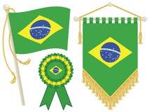 De vlaggen van Brazilië Royalty-vrije Stock Fotografie