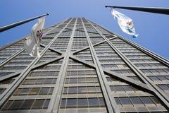De vlaggen van Chicago en van Illinois Stock Afbeelding