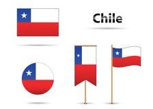 De vlaggen van Chili stock illustratie