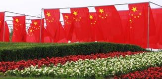 De vlaggen van China stock afbeelding