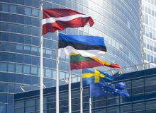 De vlaggen van de Baltische landen Royalty-vrije Stock Afbeelding