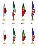 De vlaggen van de conferentie Stock Afbeelding