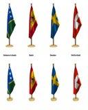 De vlaggen van de conferentie Royalty-vrije Illustratie