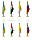 De vlaggen van de conferentie Vector Illustratie