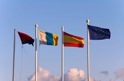 De vlaggen van de de Europese Gemeenschaplanden Stock Foto