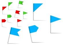 De vlaggen van de speld voor navigatie en plaats de dienst Stock Foto's