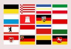 De vlaggen van de staten van Duitsland Stock Foto