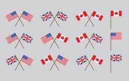 De vlaggen van de vriendschap Stock Foto