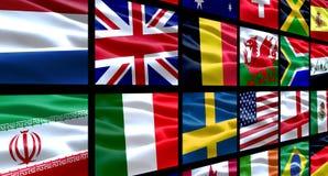 De Vlaggen van de wereld stock illustratie